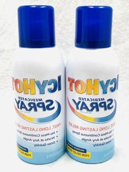 ICY HOT Medicated Pain Relief Spray Maximum Strength 3.7 Oz