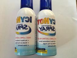2 Pack - ICY HOT Medicated Pain Relief Spray Maximum Strengt