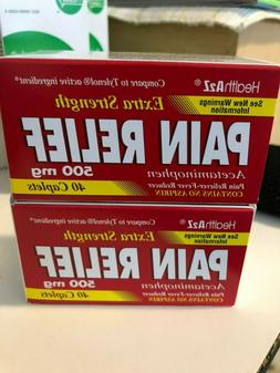2x 40 Caps Extra Strength Pain Relief ACETAMINOPHEN 500mg Ty