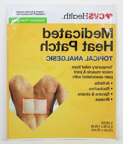 4 Capsaicin Heat Patch Topical Analgesic Medicated Pain Reli