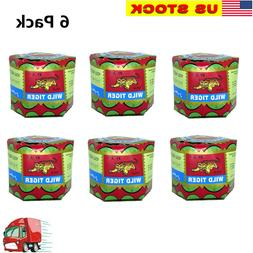 6  WILD TIGER BALM Herbal Rub Massage Muscles Ointment Menth