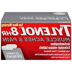Tylenol 8hr Muscle Aches & Pain Caplets, 650mg, 24 ct
