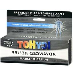 ICY HOT ADVANCED PAIN RELIEF CREAM 2 OZ Max Strength Pain Re