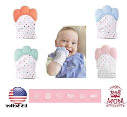 Baby Teething Mitten for Babies Self-Soothing Pain Relief an