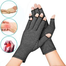 2X Copper Compression Gloves Medical Arthritis Pain Relief H