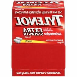 TYLENOL Extra Strength 500mg Pain Relief  50 Pouches of 2 Ca