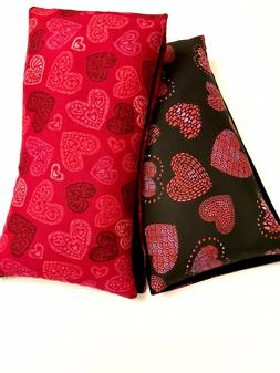 Hearts Lavender Rice Bag GIFT Microwavable Heating Pad HOT F