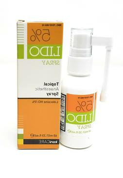Lido 5% Lidocaine Spray Pain Relief. Topical Numbing Anesthe