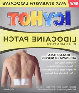 Icy Hot Lidocaine Patch Plus Menthol 5 Count Temporarily Rel
