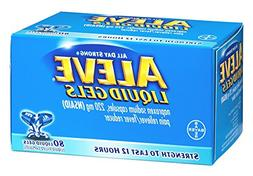 Aleve Liquid Gels Pain Reliever/Fever Reducer , 80 CT