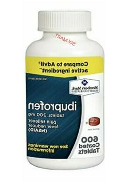 Member's Mark Ibuprofen 200mg Pain/Fever Relief 600 Ct 1 Bot