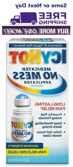 Icy Hot No Mess Pain Relieving Roll On - 2.5 fl oz Exp 09/23